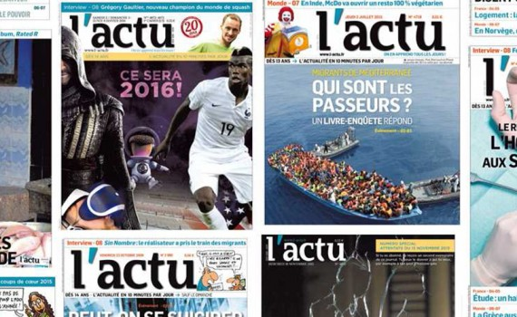 Panel de couverture du journal l'ACTU