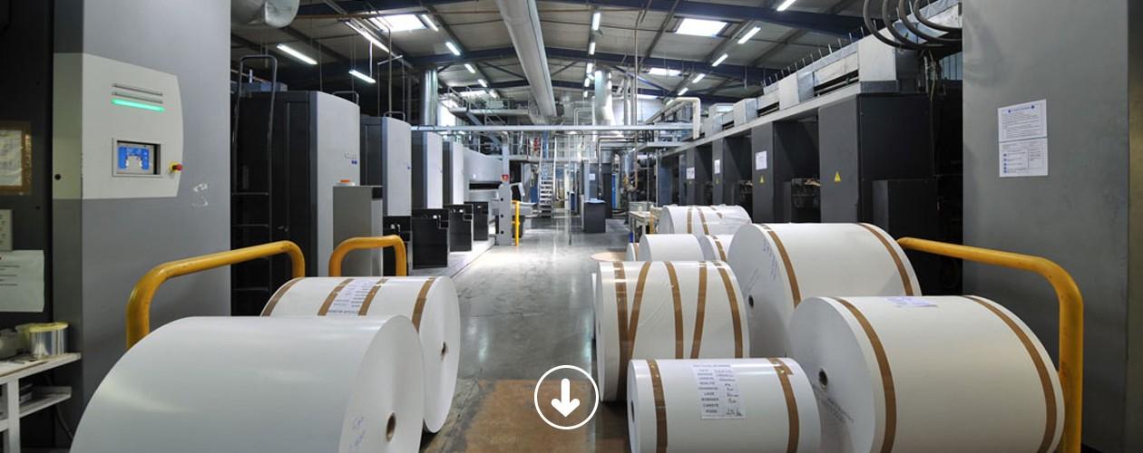 Bobines papier prêtes à être utilisées sur nos rotatives